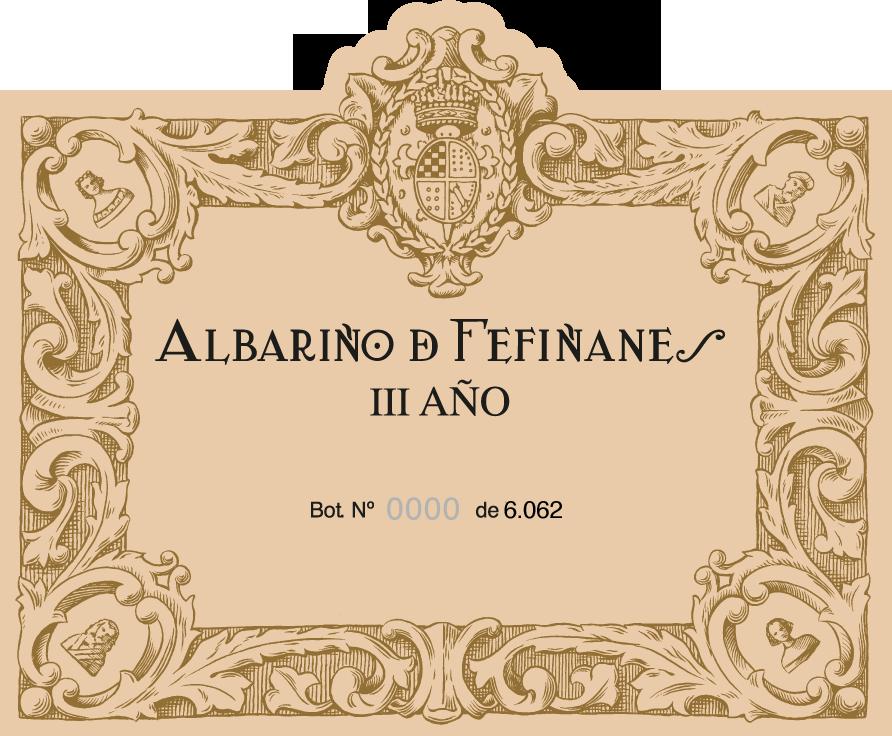 Label of Albariño de Fefiñanes III Año