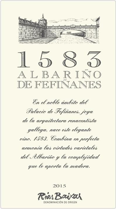 Label of 1583 Albariño de Fefiñanes