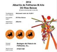 Imagen de portada para Albariño de Fefiñanes III Año 2014, seleccionado como uno de los 100 mejores vinos de España